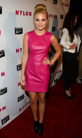 Olivia Holt in a Pink Dress