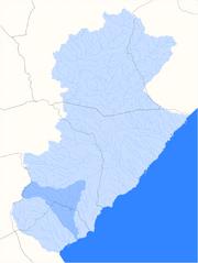 Localització del barranc del Baconer
