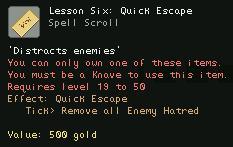 Lesson Six Quick Escape