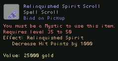 Relinquished Spirit Scroll
