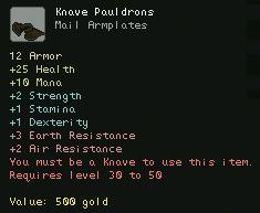 Knave Pauldrons