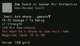 Imp Sword of Lesser Air Protection