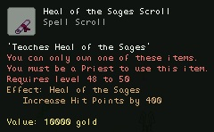 Heal of the Sages Scroll