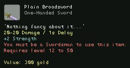 Plain Broadsword