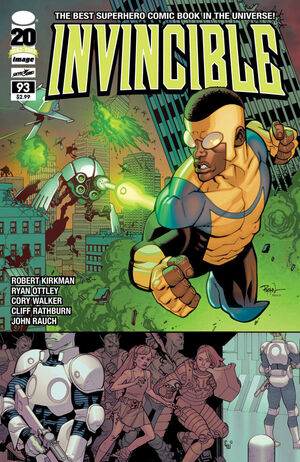Cover for Invincible #93 (2012)