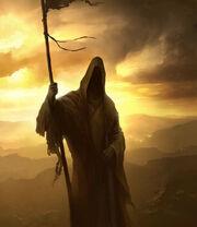 Crusader-hooded-man-stick