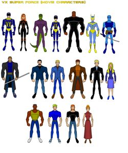 VX Super Force Movie Characters