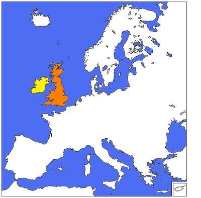 Kingdom of Great Mritain-Kingdom of Ireland crica 1600