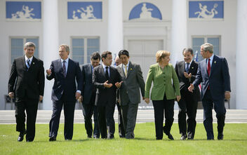 Chancellor of Empire with G8 leaders.