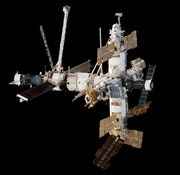 Mir Space Station viewed from Endeavour during STS-89