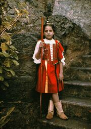 Girl in Traditional Costume, Taken in Madeira, by Sarah Angelina Acland, c.1910 mk 2