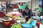 Selling fruits at the Banlung Market