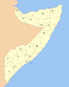 Somalia Numbered Regions