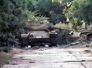 Abandoned Somali tanks
