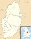 Nottinghamshire UK district map (blank) svg