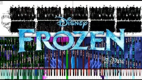 "Black MIDI Black Score - Frozen - ""Let It Go"" Black Remix 266,000 Notes"