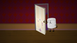 S2e6 marshmallow hides in a door