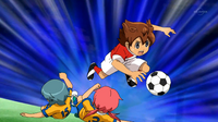 Kirino and Kariya sliding tackling Tenma CS 36 HQ