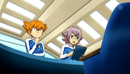 Minaho and Manabe discussing the data