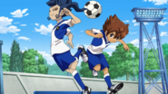 Tsurugi and Tenma training with skills Galaxy 2 HQ
