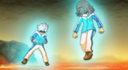 Shindou and Ibuki unlocking their Soul power Galaxy game