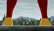 Zanak appearing in front of Raimon (CS 20 HQ)