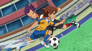 Tenma taking the ball GO 9