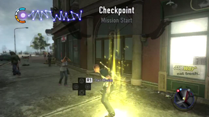 Checkpoint mission start (inFamous 2)