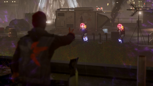 Delsin uses Laser Insight for the first time