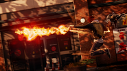 Good Delsin in Cole's Jacket shoots Cinder Missile