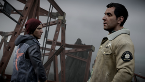 Delsin and Reggie are ready to enter the Seattle