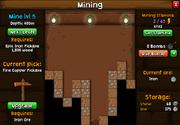 Mining screen