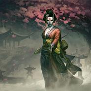 Katana Vengeful Kabuki Wallpaper Splash Art Costume