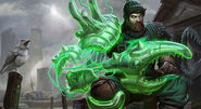 Deep Sea Fisherman Atomic Green Lantern skin splash art