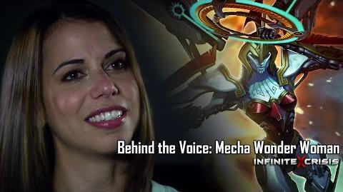 Behind the Voice Laura Bailey as Mecha Wonder Woman