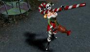 Candy Cane Harley Quinn Skin Costume Gameplay