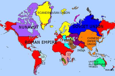 World map Romanum 2013