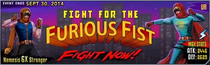 Furious fist banner