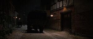 Landa's truck and a cat