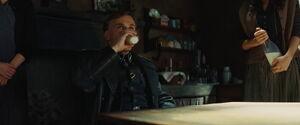 Hans Landa drinks milk