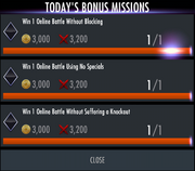 Completing bonus missions