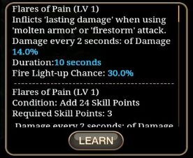 Flares of Pain