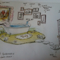Joy's room in Headquarters as shown in The Art of Inside Out