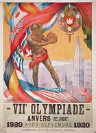 1920 olympics poster