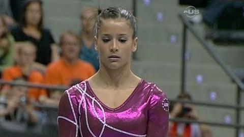 Alicia Sacramone finishes on Balance Beam - from Universal Sports