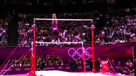 Gabby Douglas- Uneven Bars, All Around Final, London Olympics 2012