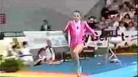 Olesya Dudnik - 1989 Worlds EF - Vault 1