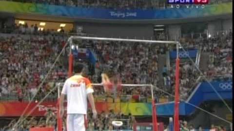 He Kexin 2008 Olympics Uneven Bars Event Finals-0