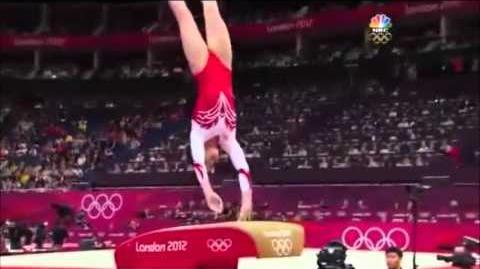 Aliya Mustafina RUS Vault Team Finals 2012 London Olympics