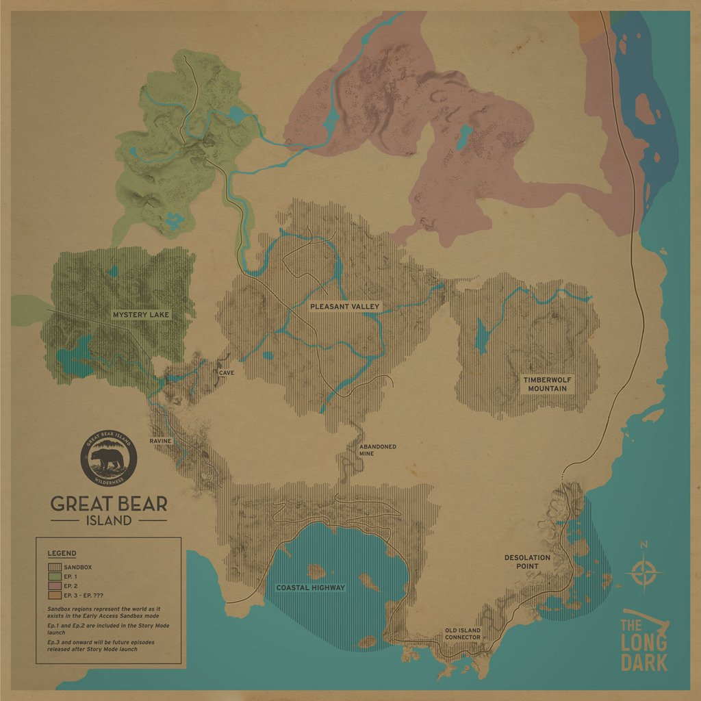 Map in the Wintermute Trailer : thelongdark